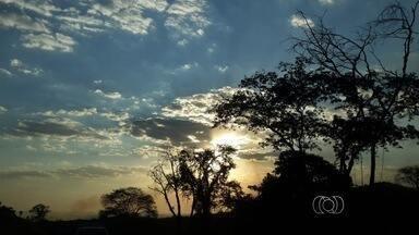 Confira a previsão do tempo para todo o estado de Goiás - Frente fria causa nebulosidade nas regiões sul e sudoeste do estado. Com isso, a umidade pode aumentar e melhorar a sensação de desconforto causado pelo tempo seco.