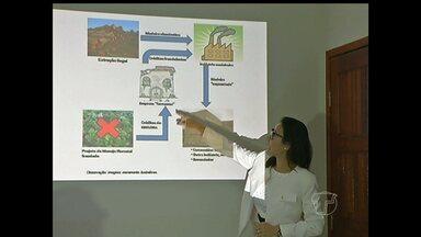 Em Santarém, PF divulga balanço da Operação Madeira Limpa - Operação teve objetivo de desarticular uma organização criminosa que atuava no comércio ilegal de madeira no estado do Pará, inclusive com o possível envolvimento de servidores públicos mediante pagamento de vantagens indevidas.