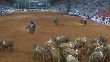 Competições de cavalos abriram noite de montarias nessa segunda (24), em Barretos - Primeira prova foi dos iniciantes na categoria working penning.