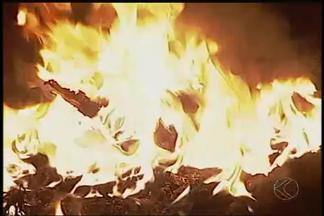 Bombeiros registram aumento na quantidade de incêndios em Uberlândia - Nove focos foram identificados na cidade nos últimos dias. Tempo seco com altas temperaturas contribuem para queimadas.