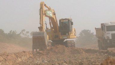 Obras do anel viário são retomadas em Ji-Paraná - Obra ficou parada por 15 dias.