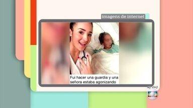 Apresentadores comentam selfies inusitadas - Casos reais têm fotos com policiais, tubarão e mais