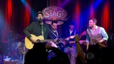 Fernando e Sorocaba se apresentaram em Nashville nos EUA - O Fantástico mostrou como foi a palinha da dupla