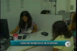 Eleitores de Petrolina não estão fazendo o cadastramento biométrico - De acordo com o Tribunal Regional Eleitoral, o município está em estado crítico de adesão.