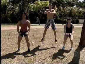 Grupo se reúne para praticar 'calistenia' em Pres. Prudente - Esporte garante qualidade de vida e diversão.