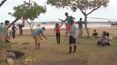 Famílias aproveitam o feriado com momento de esporte e lazer no Parque do Forte - Uma segunda-feira (8) de praça cheia. Famílias do Amapá aproveitaram o feriado para passear no Parque do Forte, por conta das diversas atividades realizadas no local pelos amapaenses.