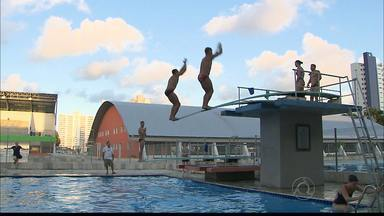 Seleção Norte-Americana de saltos ornamentais treina em João Pessoa - Período de treinos serve como uma primeira aclimatação para os Jogos Olímpicos do ano que vem.