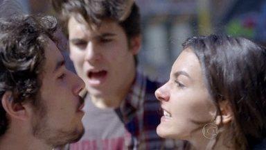 Luan briga com Rodrigo por causa de Luciana - Jorge torce para Luan fazer as pazes com Luciana