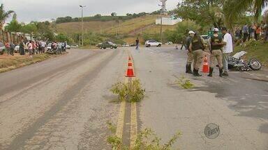 Motociclista morre em acidente na BR-491, em Elói Mendes (MG) - Motociclista morre em acidente na BR-491, em Elói Mendes (MG)