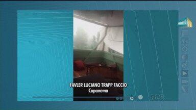 Telespectadores do Paraná TV mostram imagens do último temporal - Muita gente registrou, de diversas cidades, o temporal da última terça-feira (08).