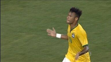 Com dois de Neymar, Brasil goleia a seleção dos Estados Unidos em amistoso - Hulk, Rafinha e Neymar marcam os gols na vitória por 4 a 1.