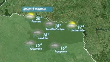 Previsão de chuva nesta quinta-feira - A previsão é de sol no fim de semana.