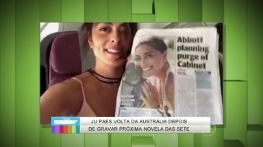 Juliana Paes manda recado especial para o Vídeo Show - Monica Iozzi assume que inveja a atriz