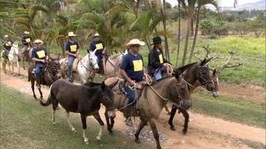 Grupo cavalga por estradas de Minas Gerais distribuindo livros em escolas - Liderada por Carlos Oscar Niemeyer, neto do arquiteto Oscar Niemeyer, comitiva Cavaleiros da Cultura já distribuiu 600 mil livros desde sua criação.