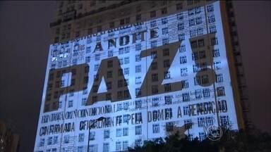 Festival de Artes Visuais projeta imagens nos prédios da Praça Mauá, no Rio - Com arte, até o edifício antigo, do início do século XX, consegue surpreender. As obras audiovisuais tomaram conta da fachada do prédio onde o jornal A Noite e a Rádio Nacional construíram as suas histórias.