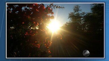Telespectadores enviam fotos do amanhecer pelo estado; veja na previsão - Saiba como fica o tempo no estado.