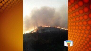 Tempo seco provoca queimadas na região - Umidade relativa do ar chegou a 13% em São José.