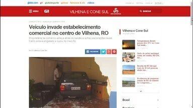 Veja os destaques do G1 de Rondônia desta quarta-feira (23) - Veja as principais notícias desta manhã, com Ana Fabre.
