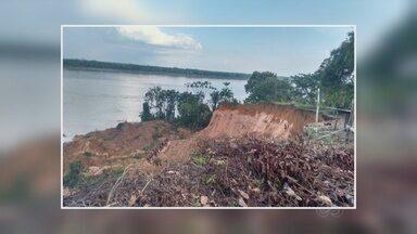 Três pessoas ficam feridas após deslizamento de terra no AM - Barranco cedeu e soterrou trinta cabeças de gado no município de Tonantins, região do Alto Solimões.