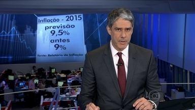 BC prevê que economia brasileira vai encolher 2,7% em 2015 - Projeção pra inflação passou de 9% para 9,5%. É mais que o dobro da meta perseguida pelo Banco Central.
