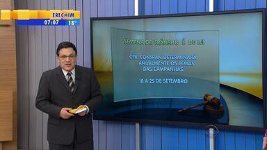 Cláudio Brito fala sobre campanhas e Código de Trânsito Brasileiro - Comentarista explica que as campanhas de trânsito são lei.