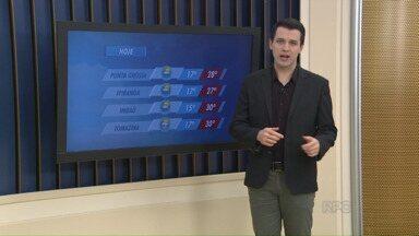 Noite de sexta deve ser com chuva, em Ponta Grossa - A máxima, hoje, chega aos 30 graus em Imbaú.