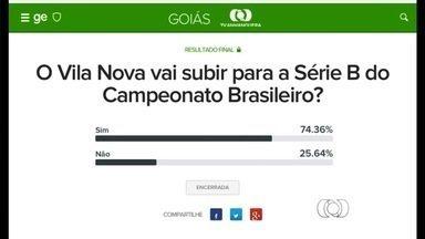 Internautas acreditam no acesso do Vila Nova - Em enquete realizada durante a semana 74% dos votos apontam para vitória colorada sobre a Portuguesa nas quartas de final da Série C.