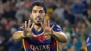 Top 5: as melhores finalizações da rodada da Liga dos Campeões - Ao todo foram 52 gols em 16 jogos. Golaço de Suarez foi o melhor da lista.