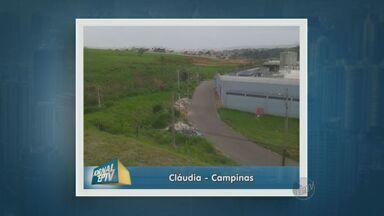 Moradora denuncia o descarte irregular de lixo em Campinas - Uma telespectadora flagrou o descarte irregular de lixo e mandou pelo aplicativo do Jornal da EPTV.