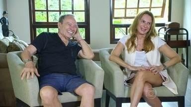Stênio Garcia e Marilene Saade falam sobre fotos vazadas - Ator e a mulher dão entrevista ao Fantástico