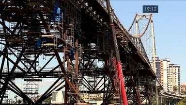 Governo anuncia novo prazo de reabertura da Ponte Hercílio Luz - Governo anuncia novo prazo de reabertura da Ponte Hercílio Luz
