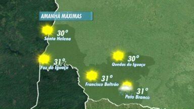 O sol brilha forte na terça-feira nas regiões oeste e sudoeste - Em Foz do Iguaçu, há previsão de chuva nos próximos dias .