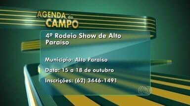 Confira a Agenda do Campo para esta semana em Goiás - Do dia 15 a 18 de outubro aconteceu o 4º Rodeio Show de Alto Paraíso.