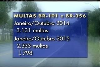 Número de infratores no trânsito em Campos, RJ, caiu após multas ficarem mais caras - Polícia Federal intensifica fiscalizações.