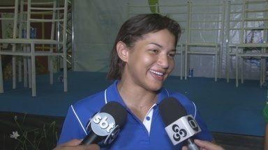 Judoca Sara Menezes participa da abertura do Joer - Cerimônia foi realizada em Cacoal na noite de quinta-feira (8).