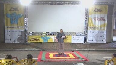 Mercado Cultural recebe projeto 'Cinema e Samba' - Filmes são exibidos em telões. As atividades fazem parte da programação do Festcine Amazônia.
