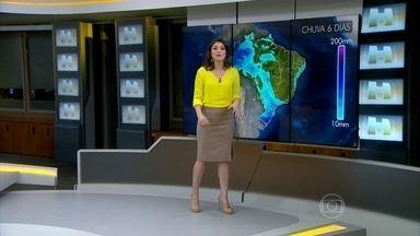 Meteorologia prevê chuva no Rio Grande do Sul nesta sexta (9) - As regiões com previsão de maior volume de chuva são o Sul e o Centro-Oeste de Santa Catarina e toda a faixa sul do Paraná.