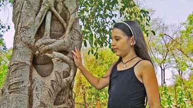 Natureza encanta menina - Lara aprendeu com o avô, Mário Meloni, a observar e a respeitar a natureza, de onde tira ensinamentos importantes.