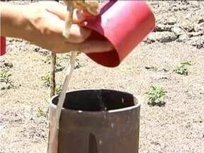 Sem bombas nos poços artesianos, famílias de Novo Cruzeiro enfrentam falta d'água - Abastecimento é feito com caminhão pipa.