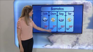 Confira a previsão do tempo para sábado (10) na região de Ribeirão - Quem vai para o litoral neste feriado prolongado pode encontrar tempo instável.
