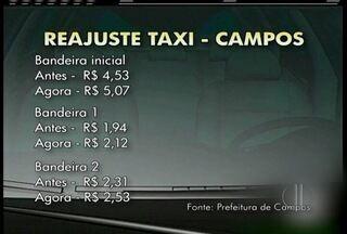Tarifa de táxi tem reajuste de 9,5% em Campos, RJ, a partir deste sábado - Reajuste foi autorizado pela Prefeitura.