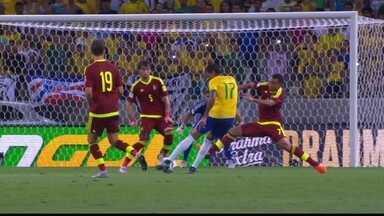 Melhores momentos: Brasil 3 x 1 Venezuela pelas eliminatórias da copa - Willian brilha, marca duas vezes, e comanda vitória dos brasileiros. Venezuelanos descontam, mas Ricardo Oliveira marca o terceiro.
