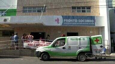 Atendimento de emergência é paralisado em hospital de Vila Velha, ES - Os servidores paralisaram parte dos atendimentos de saúde depois de demissões no hospital.