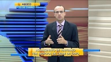 Renato Igor comenta o assassinato de haitiano em Navegantes - Renato Igor comenta o assassinato de haitiano em Navegantes