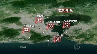 Rio tem previsão de pancadas de chuva na sexta-feira (23) - O tempo continua muito instável no Rio. O Sol aparece entre nuvens, mas há previsão de pancadas de chuva isoladas durante a noite.