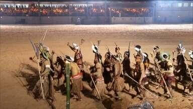 Palmas recebe a primeira edição dos Jogos Mundiais Indígenas - A cidade de Palmas, capital do Tocantins, está recebendo a primeira edição dos jogos mundiais indígenas. A cerimônia de abertura, na noite de sexta-feira (23), contou com a presença da presidente Dilma Rousseff.