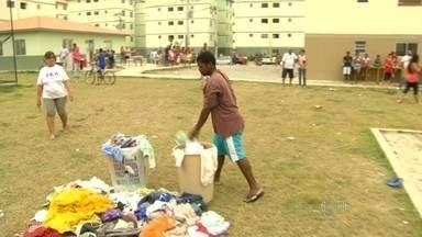 Conjunto é inaugurado em Maricá sem abastecimento de água. - Conjunto de apartamentos do Minha Casa Minha Vida não tem fornecimento de água. Moradores tem que comprar carro-pipa.