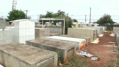 Prazo para reforma de túmulos para Finados termina amanhã em Londrina - Hoje no cemitério Jardim da Saudade faltou água. Quem pretende fazer reformas tem que se apressar.