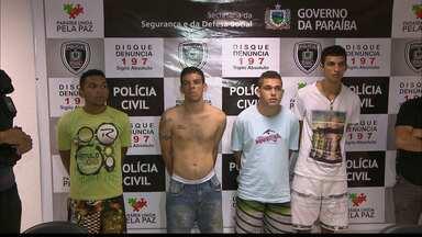 Polícia prende quatro homens no Alto do Mateus em João Pessoa - Os homens são acusados de homicídios em João Pessoa.