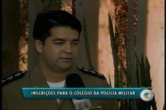 Estão abertas as inscrições para o Colégio da Polícia Militar - As inscrições começaram hoje